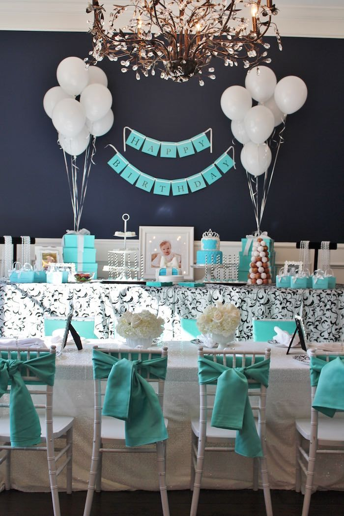 fa668e6476 Partyscape from Breakfast at Tiffany's Birthday Party inside Kara's Party  Ideas. See the details at karaspartyideas.com!