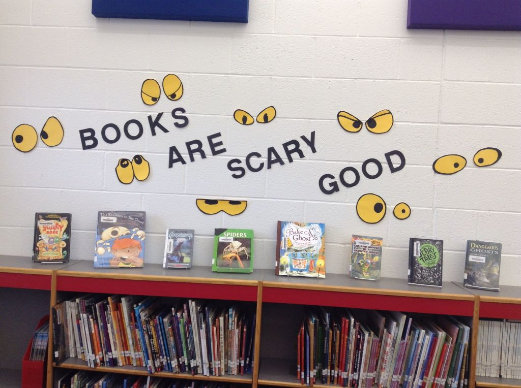 October scary book display