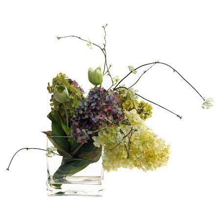 Faux Lilac & Tulip Arrangement at Joss & Main