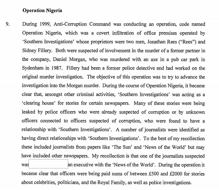 Example Of An English Essay Police Corruption Essays How Much Did Rebekah Brooks Know About The Daniel  Morgan Murder Mba Assignments Help also Research Papers Examples Essays Greg Miskiws Confirmation That Another Notw Executive Was  Term For Sale