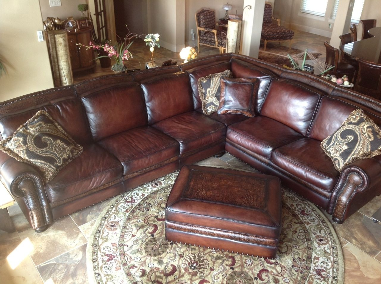 Leatherpes Presidential Custom Bethesda Collection 7 900 00 Http Leather Sectional Html