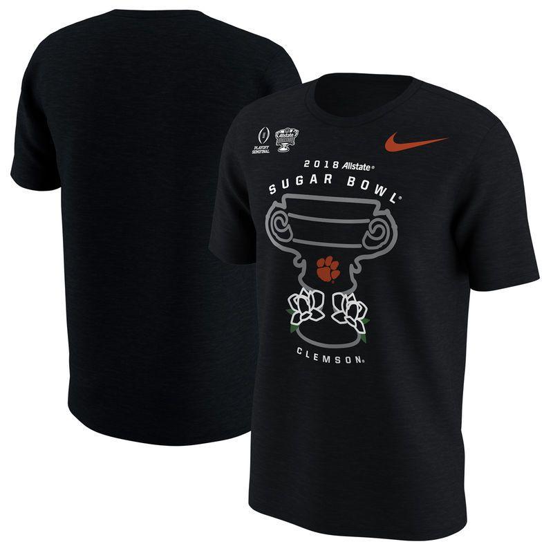 8ed5d66a Clemson Tigers Nike College Football Playoff 2018 Sugar Bowl Bound  Illustration T-Shirt - Black