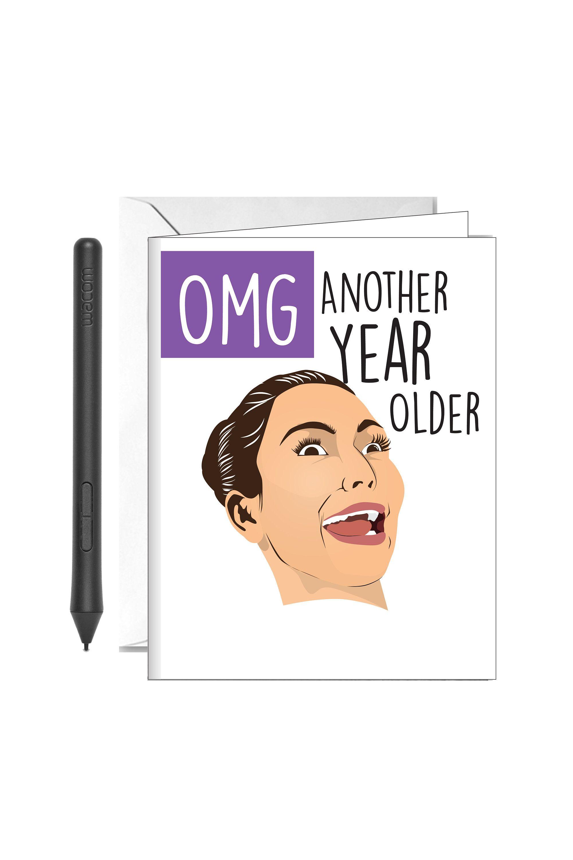 30th birthday kim kardashian funny greeting card for her