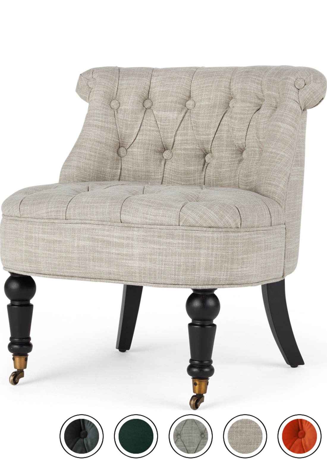 MADE Accent Chair, Taupe Linen Mix. Express delivery ...