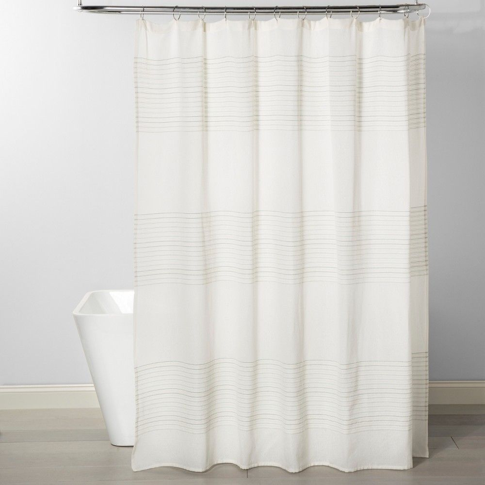Stripe Shower Curtain Smoke Green Project 62 Striped Shower