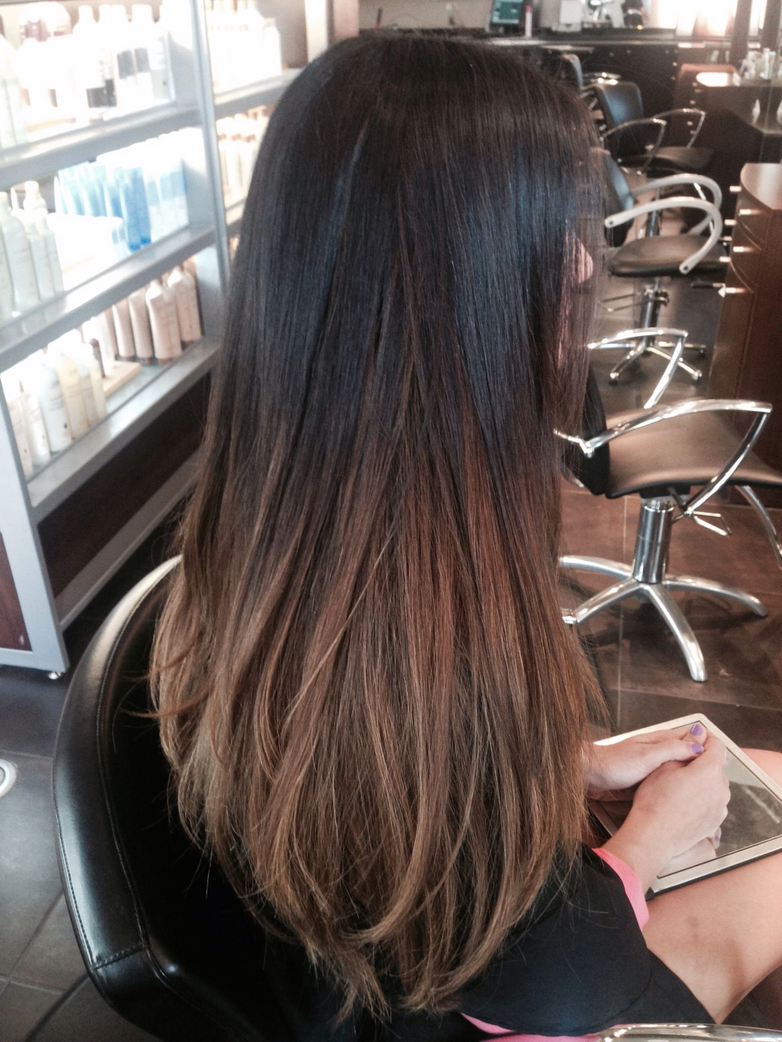 Ombre Hair Color For Black Hair Brown Hair Balayage Black Hair Balayage