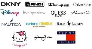 What are some of the brand names of clothings?