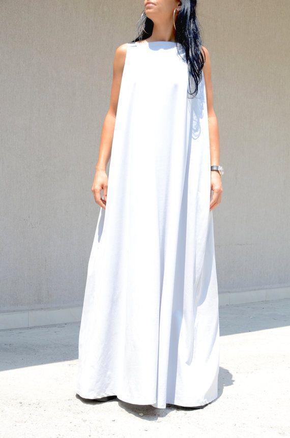 efe5f973f627c XXLXXXL Maxi Dress / Kaftan / Extravagant Long Dress / Party White Maxi  Dresses, Ivory