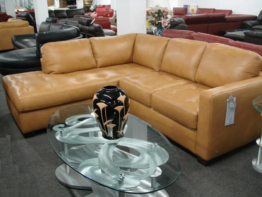 Sale Italsofa By Natuzzi I276 Amora Camel Leather Sectional Home