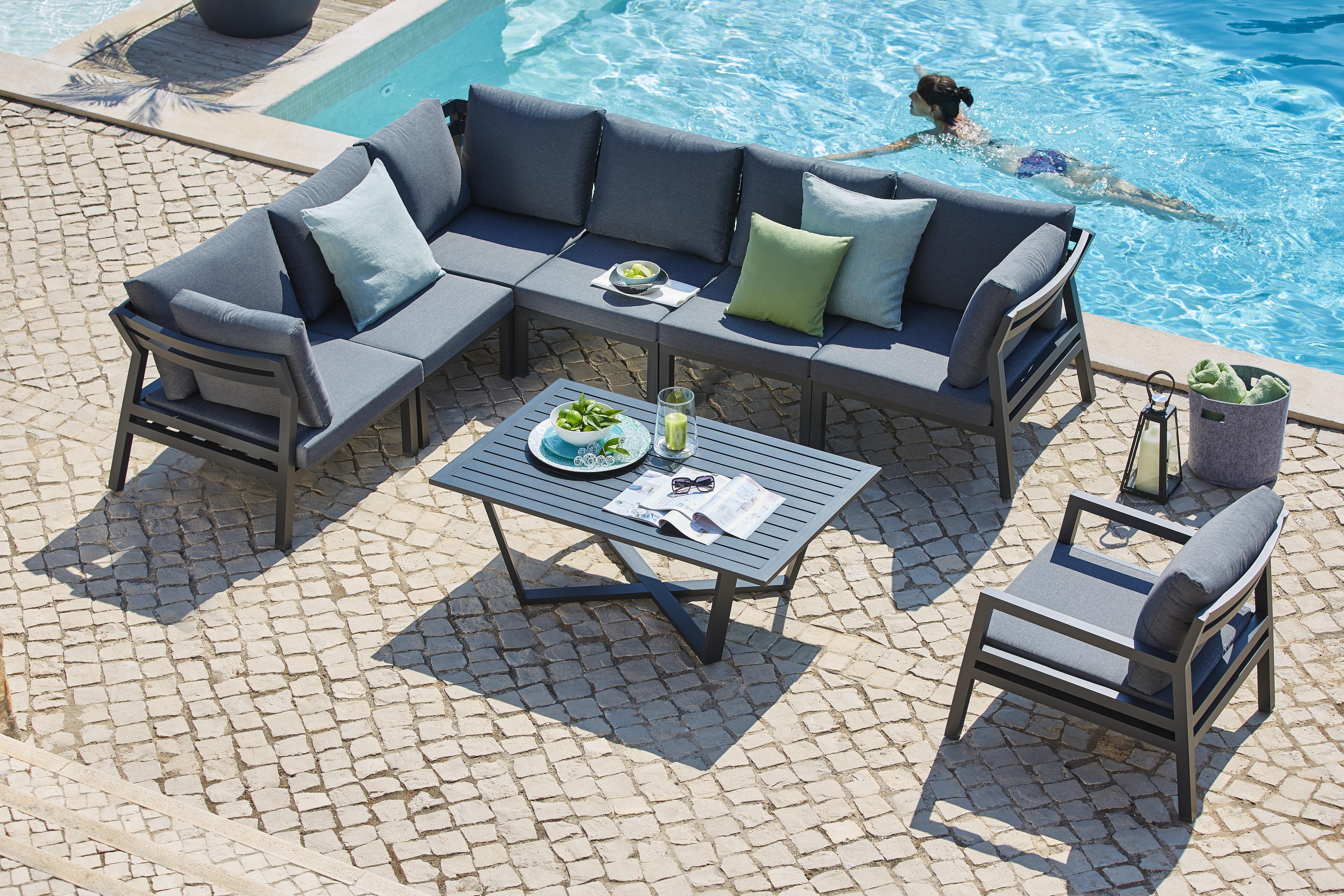 Moderne Gartenlounge Aus Metall Mit Polster Garten Lounge Aussenmobel Lounge