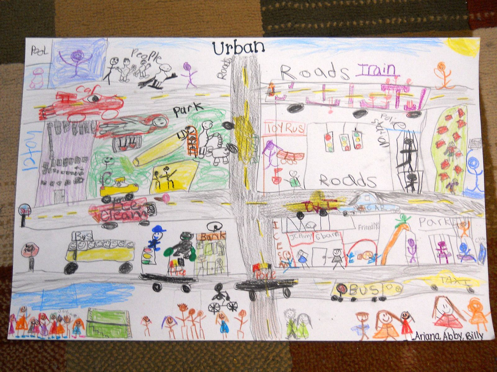 Student Group Hands On Project Of Creating An Urban Community Poster