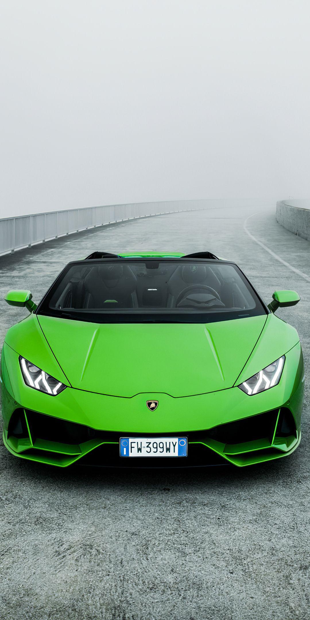 1080x2160 Lamborghini Huracan Evo Spyder Green Car 2020 Wallpaper Car Wallpapers Lamborghini Lamborghini Huracan