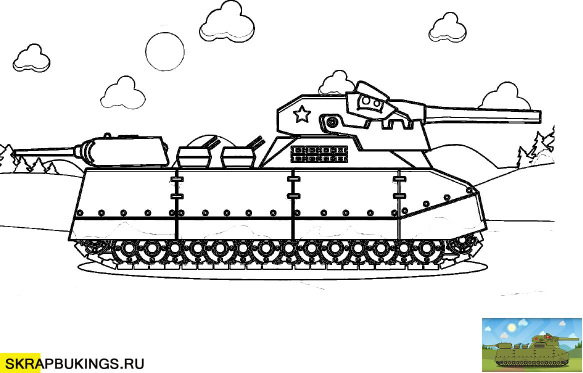 Раскраски (Мультики про танки) | Раскраски, Мультфильмы и ...