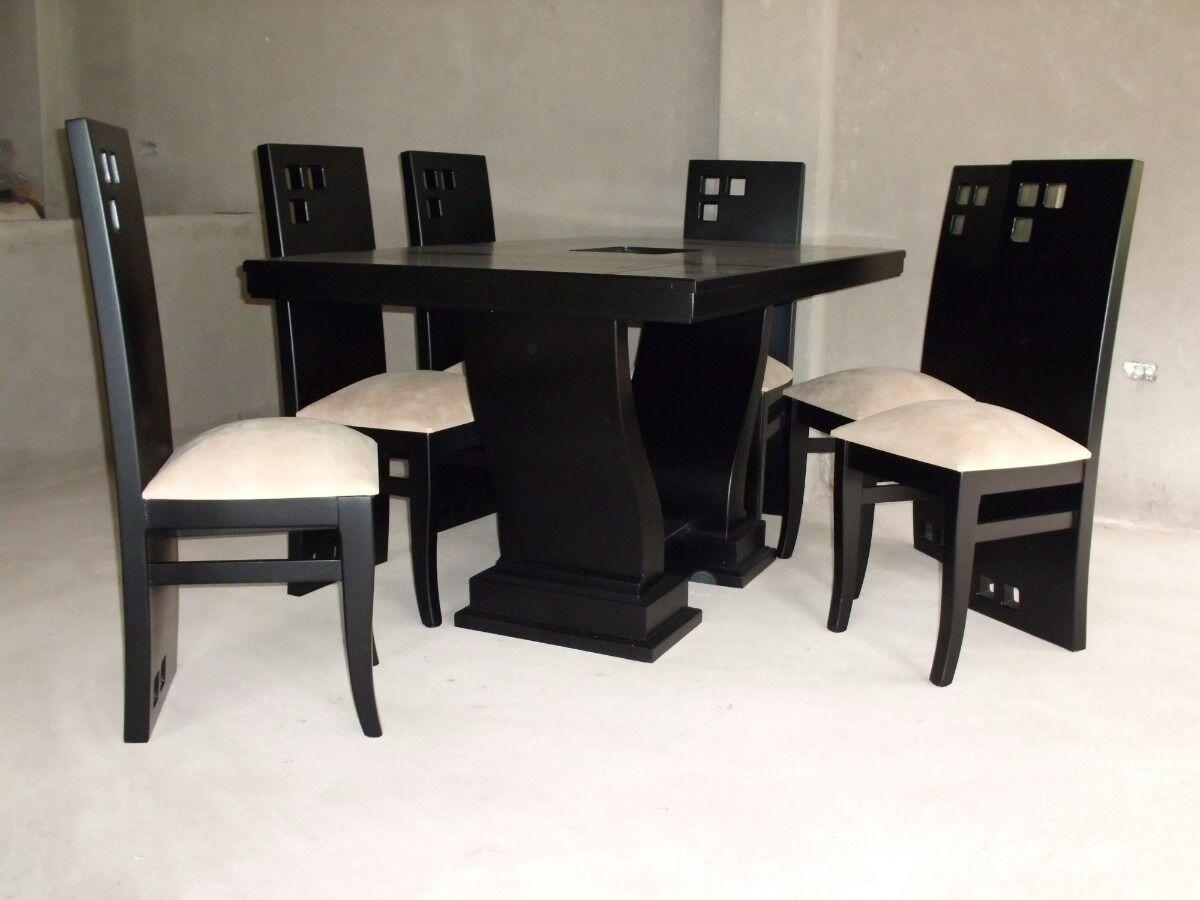 Juego de comedor moderno modelo lineal 125101 for Comedores 6 sillas elektra