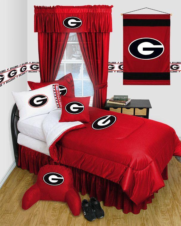 Georgia Bulldogs Locker Room 6pc Twin Bed Set   personal logos ...