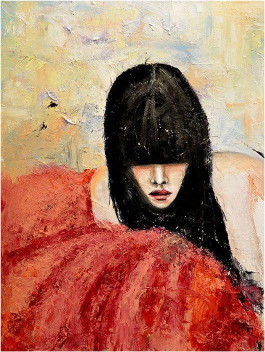 Tüll  Mode Ölgemälde Kunstdruck von LeighViner leighviner-blog.com