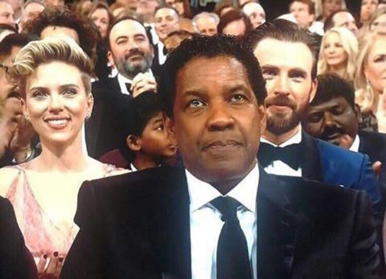 Denzel Washington, Scarlett Johansson, and Chris Evans Oscars 2017