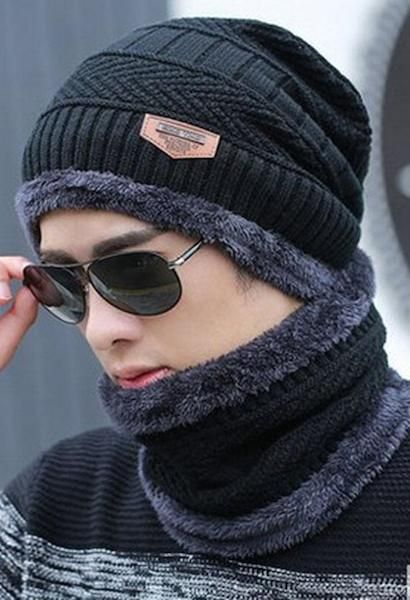 6fe851d6e74 Warm and thick this stylish hat and neck warmer set is great for skiing