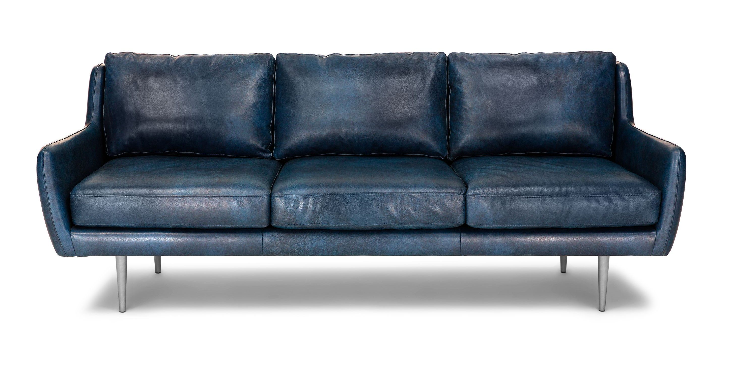 Matrix Oxford Blue Sofa From Article Sofa Deals Best Leather
