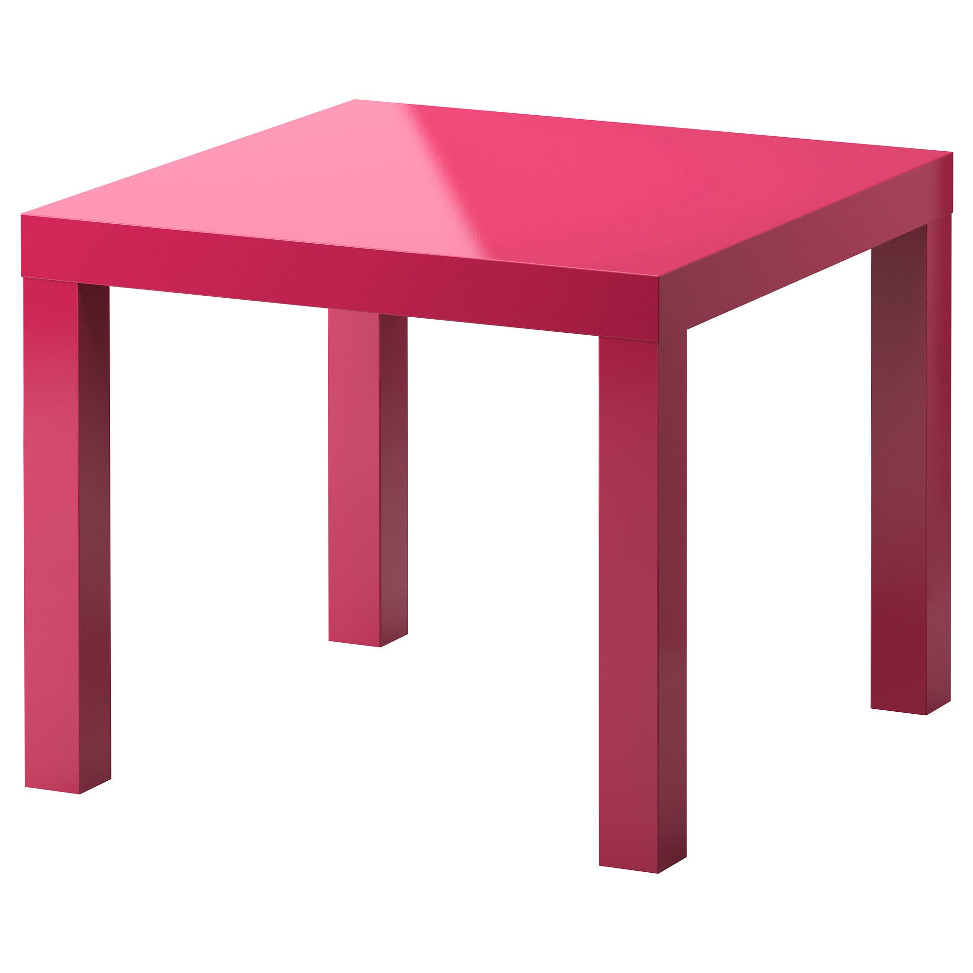 Lack side table high gloss pink 21 5 8x21 5 8 ikea for Ikea end tables salon