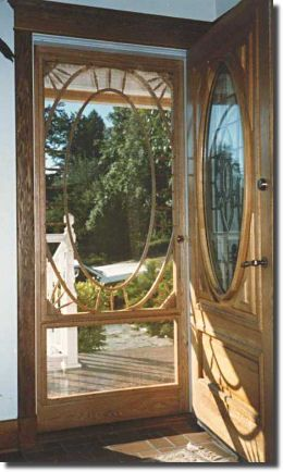 imagine your homes perfect custom wood screen door