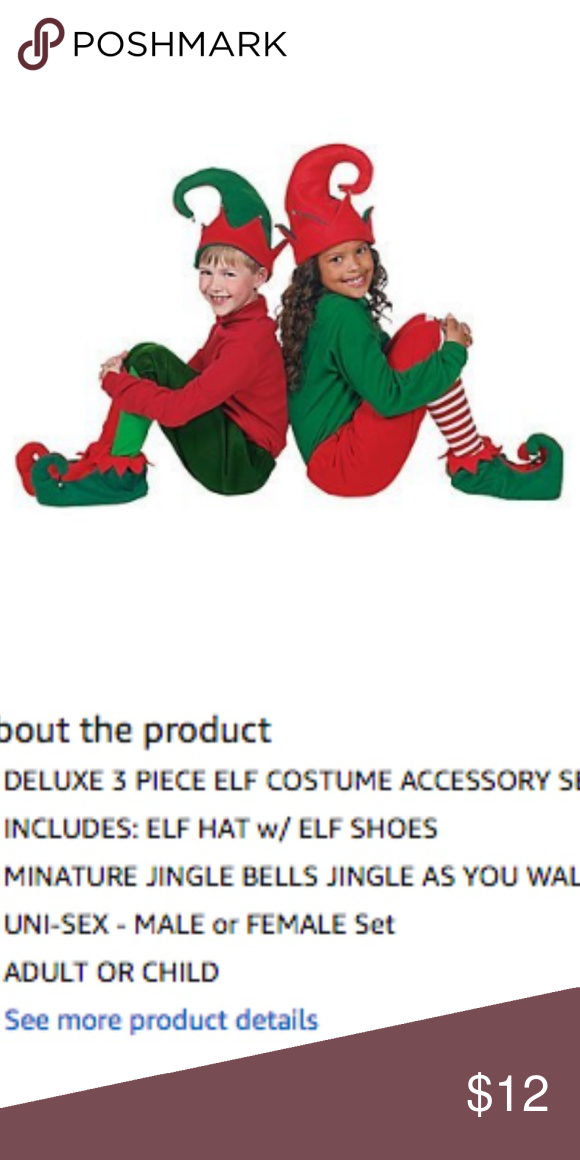 6a77d3e9e4e NWT Holiday Elf Hat & Shoes Brand new in package! Perfect for ...