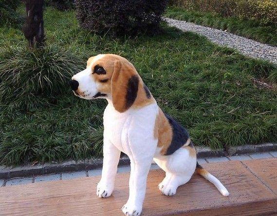 stuffed toy about 30cm squating Beagle dog plush toy, birthday gift b3667