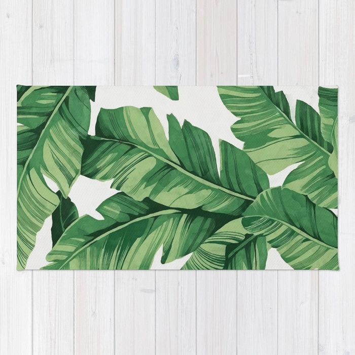 Buy Tropical Banana Leaves Rug By Catyarte Worldwide Shipping Available At Society6