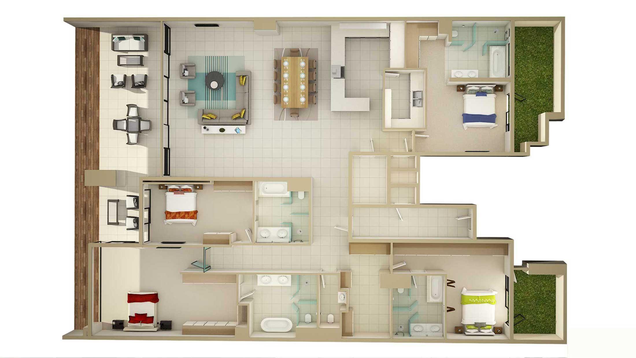 3d floor plan designer | rza | Pinterest | 3d house plans, Luxury ...