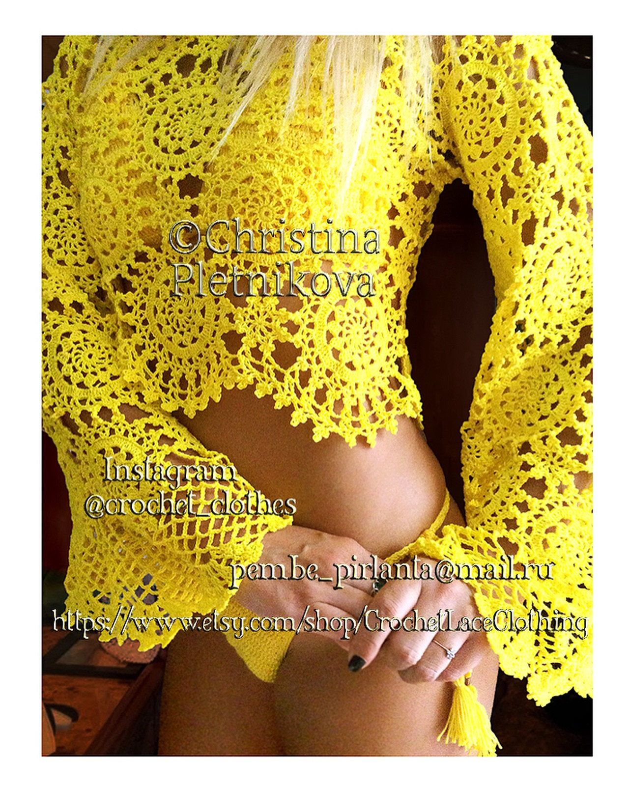 Excited to share this item from my #etsy shop: Boho crop top crochet lace bell sleeve gipsy hippie indie sexy glamour cami tank #clothing #women #yellow #crochettop #bohotop #hippietop #coachellatop #lacetop