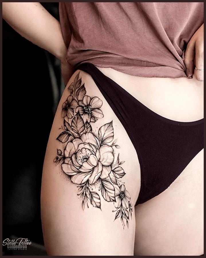 40 elegante einzigartige Blumen-Schenkel-Tätowierungen entwerfen für Frauen- …. – Tattoo designs for women – Mary Blog