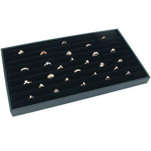 36 RING WOOD JEWELRY DISPLAY CASE BOX