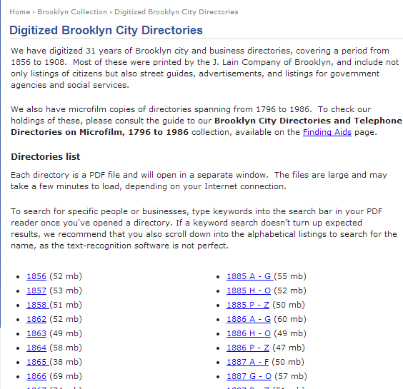 Digitized Brooklyn City Directories   Brooklyn city, Genealogy resources, Genealogy