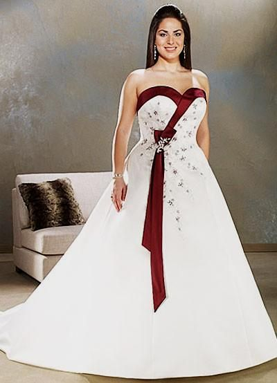 Plus Size Red And White Wedding Dresses | Dresses Trend ...