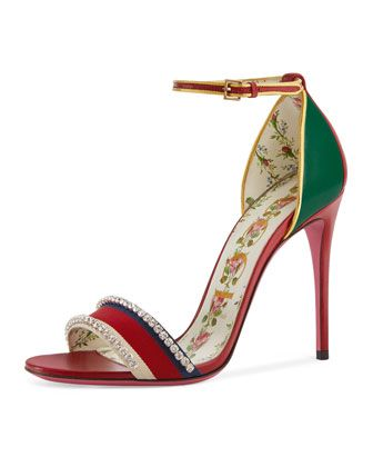1035ae51211e Isle+Jeweled+Ankle-Wrap+Sandal+by+Gucci+at+Bergdorf+Goodman ...