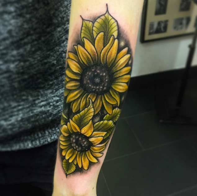 150+ Vibrant Sunflower Tattoo Designs & Meanings nice