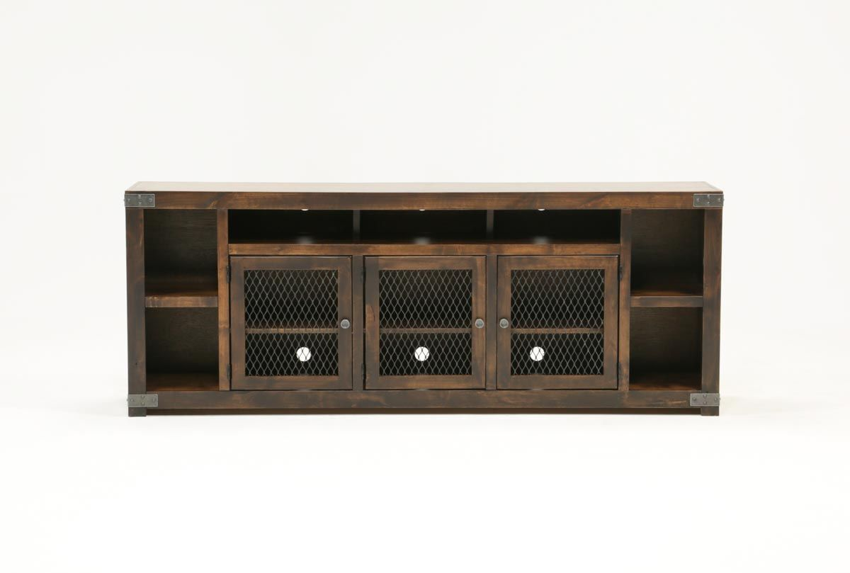 Wyatt Tobacco 84 Inch Tv Console Living Spaces httpmytvscouk