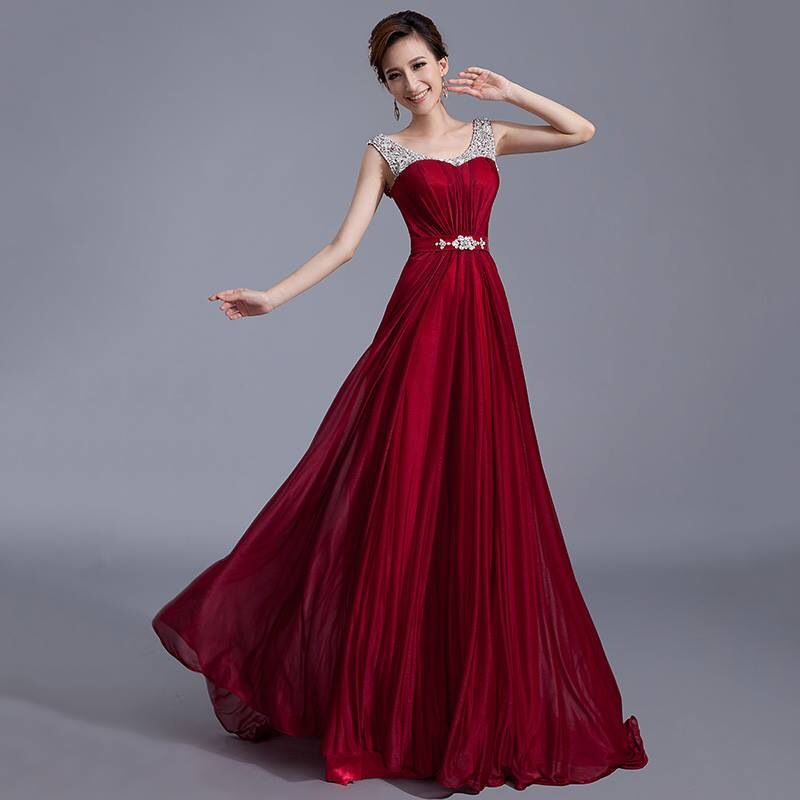 Beautiful blood red evening dress. For more info email us at ...
