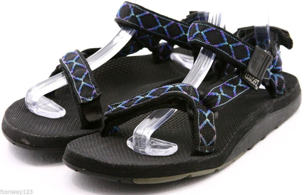 80adb26f12f Teva Womens Sandals Size 9 - 10 M Blue black Strappy Nylon Sport Sandal  Mens 8  teva  sandals  style