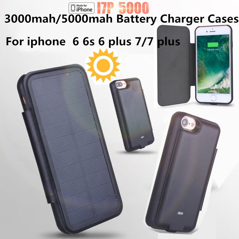 17 99 5000mah External Solar Power Bank For Iphone 7 Plus 6 6s Plus 3000mah Battery Charger Cases Cover For Iphone 7 Iphone Solar Power Bank Cool Phone Cases
