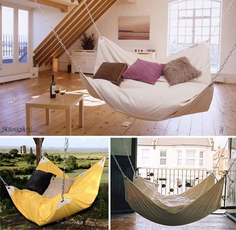 Indoor living room hammock living room for Living room hammock
