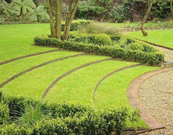 Jardines con desnivel tema taludes desniveles y escaleras en el jard n mi casa - Escaleras jardin ...