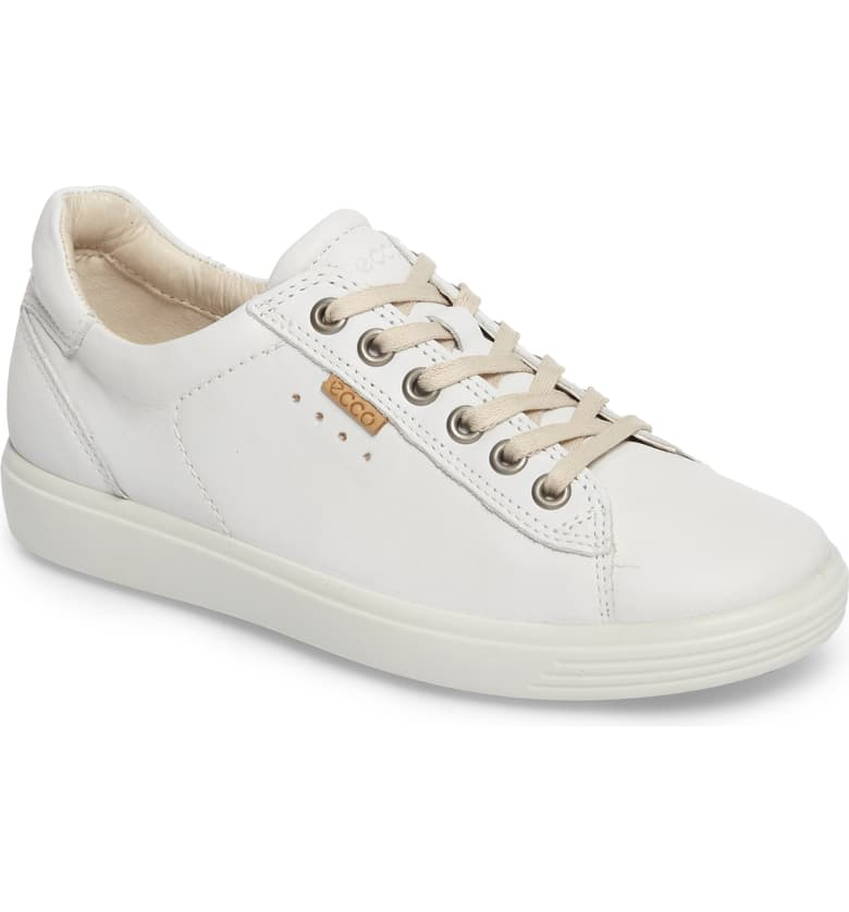 ECCO Soft 7 Long Lace Perforated Sneaker (Women | Sneakers