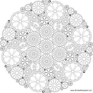 Intricate floral mandala to color - I give these to my daughter to color before bed, to wind down and order her thinking. She LOVES them!