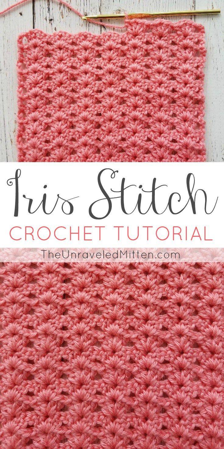 Iris Stitch Crochet Tutorial | Pinterest | Häkeln, Häkelmuster und Garn