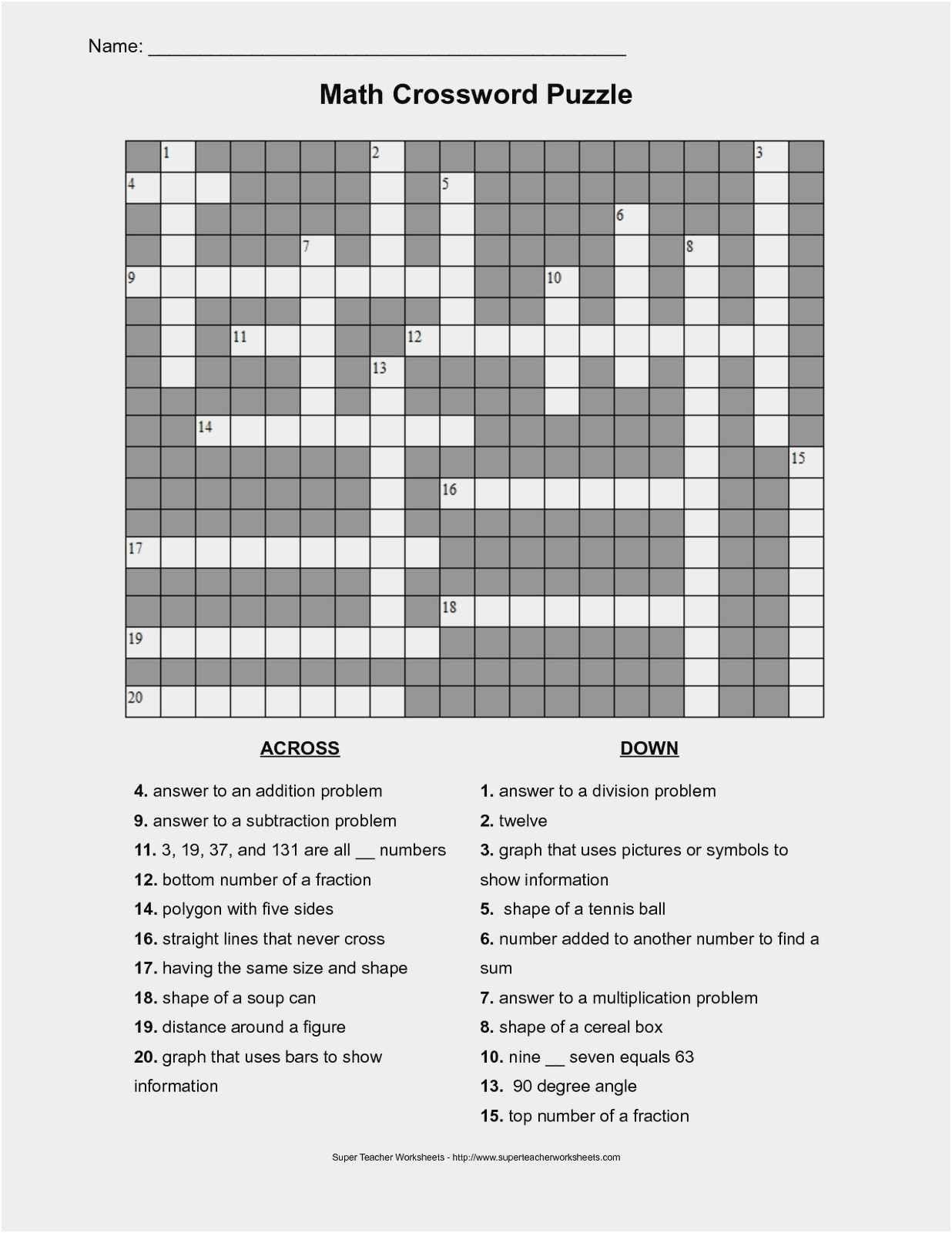 Algebra Tiles Worksheets 6th Grade 6th Grade Algebra Tiles Worksheet Maths Puzzles Math Addition Worksheets Crossword Puzzles