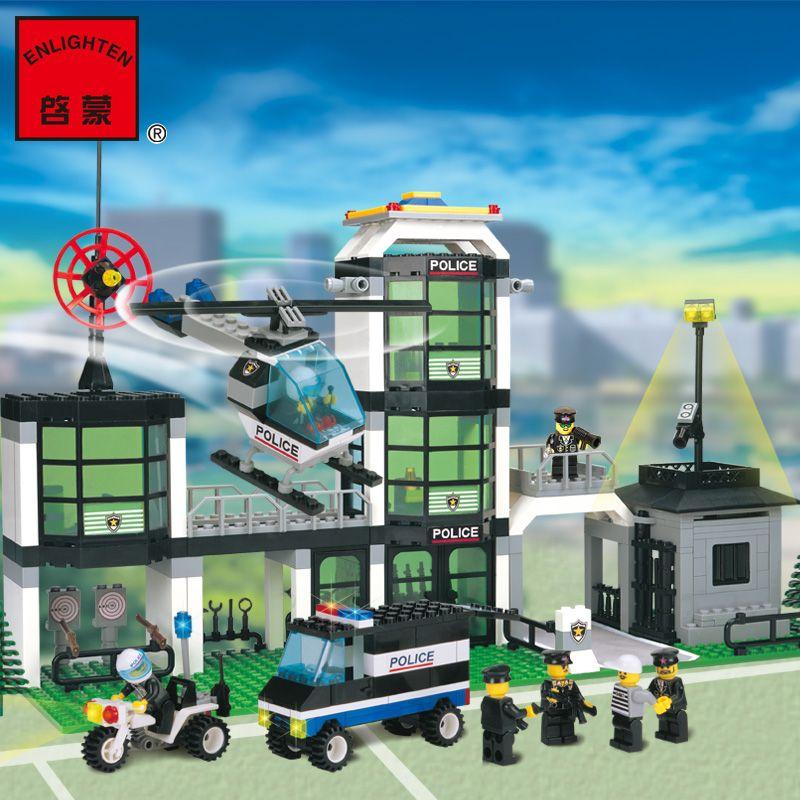 모델 건물 키트 호환 레고 호텔 드 경찰 3D 블록 교육 모델 및 건물 장난감 취미 어린이