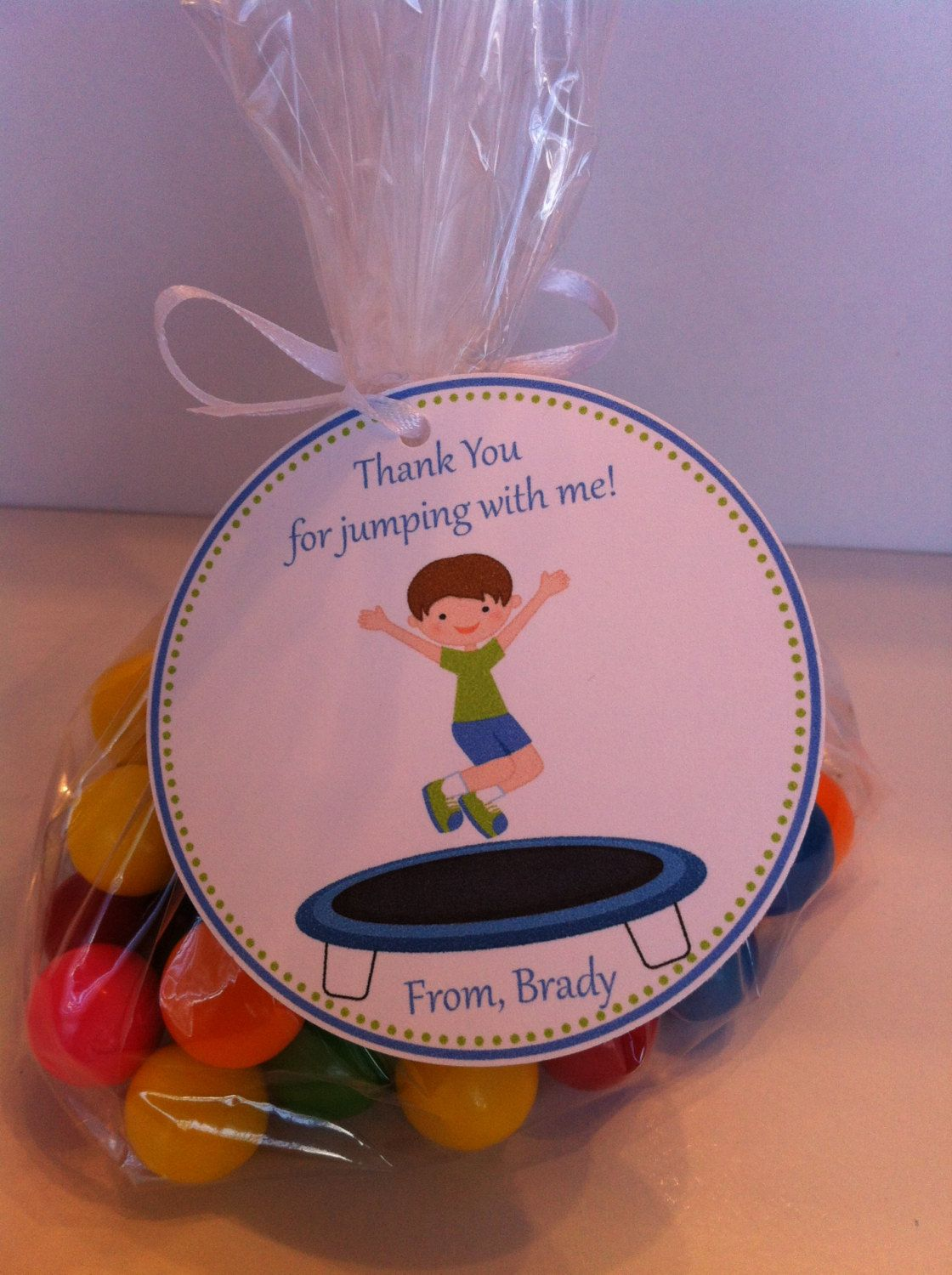 Trampoline Party Favor Bags - Trampoline Birthday Favors - Jumping ...