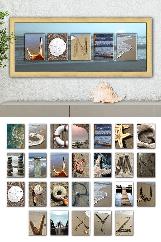 Coastal Beach Name Art Beach Letter Art Letter Art Photography Name Art