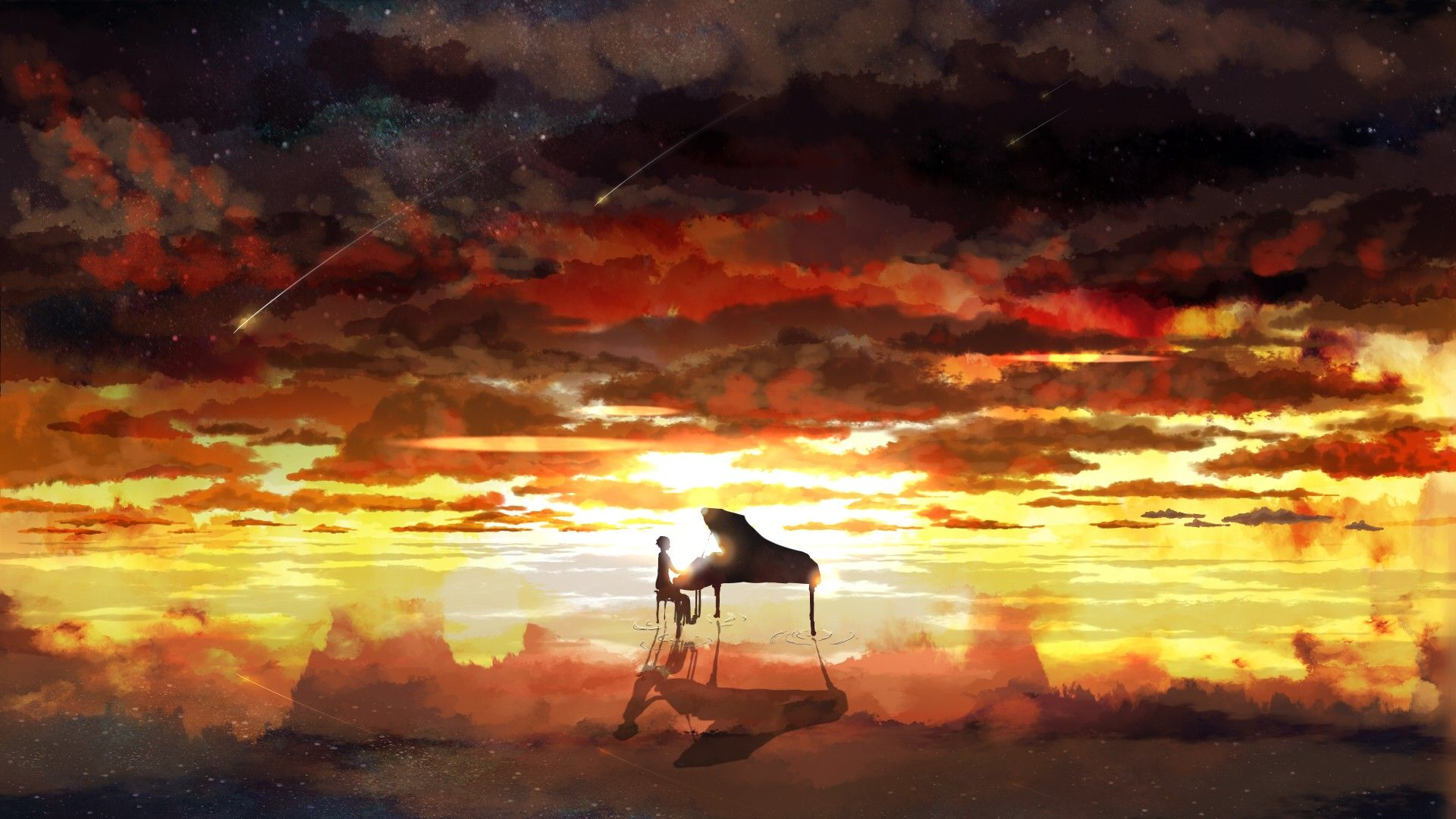 Piano Rising Sun Anime Wallpaper Check More At Hdwallpaperfx
